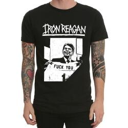 Black Heavy Metal Iron Reagan Tshirt
