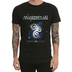 Black Heavy Metal Masterplan Rock Tee Shirt