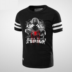 Black Spider Man tshirt Spider Logo Clothing