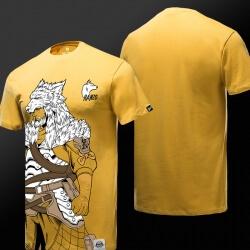 Blizzard Overwatch Hanzo Tshirt Yellow 3XL Men Tee Shirt