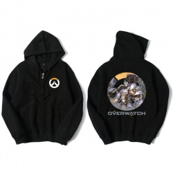 Blizzard Overwatch Reinhardt Sweatshirt Men Black Sweater