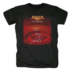 Brazil Metal Graphic Tees Angra Evil Warning T-Shirt