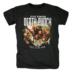 California Hard Rock Band Tees Five Finger Death Punch This Is My War T-Shirt