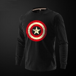 Captain America Long Sleeve T Shirt
