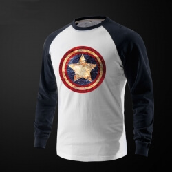 Captain America Long Sleeve tshirt Men'S Clothing