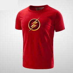 Cool Black Flash T Shirt Men
