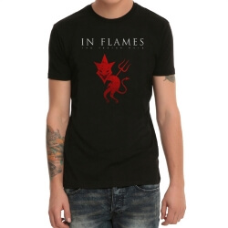 Cool In Flames Heavy Metal Rock Band Tshirt