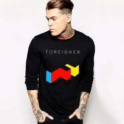Cool Foreigner Tshirt Long Sleeve Rock Music Team Tee