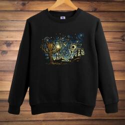 Cool Gotg Groot Sweatshirt Galaxy Movie Black Large size Men hoodie