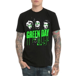 Cool Green Day Rock T-Shirt Heavy Metal Band Tee