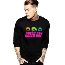 Cool Green Day T-Shirt Rock Music Team Long Sleeve Tee