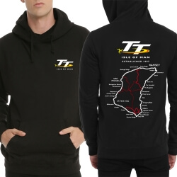 Cool Isle of Man Logo Black Hooded Sweatshirt