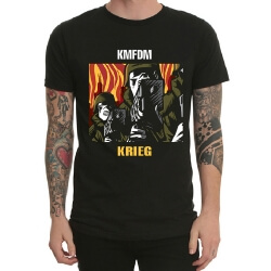 Cool Kmfdm Band Rock T-Shirt Black Heavy Metal Tee