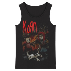 Cool Korn Sleeveless Tshirts California Metal Tank Tops