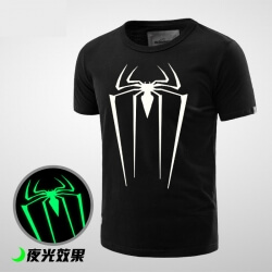 Cool Luminous Spiderman Costume T Shirt