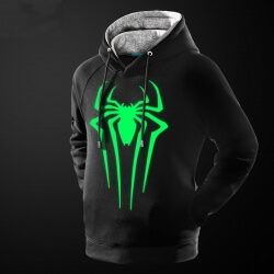 Cool Luminous Spiderman Pullover Hoodie Marvel Superhero Sweatshirt