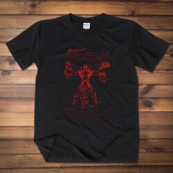 Creative Deadpool Hero Tee shirt Black cotton Tshirt