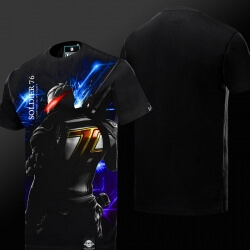 Dark Series Overwatch Soldier 76 T-shirt