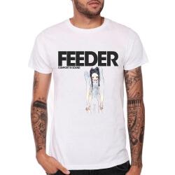 Feeder Band Rock T-Shirt White Heavy Metal Tee