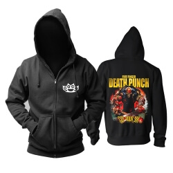 Five Finger Death Punch GOT YOUR SIX DATEBACK Hoodie Metal Rock sweat shirt