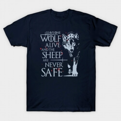 Game of Thrones Jon Snow Wolf T-shirt