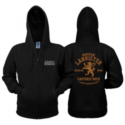 Game of Thrones Lannister Zip Hoodie Game Of Thrones Clothing