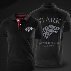 Game of Thrones Polo Shirt House Stark direwolf Polo