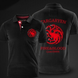 Game of Thrones Polo Shirt House Targaryen three-headed dragon Polo