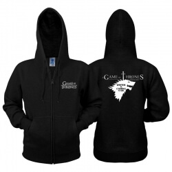 Game of Thrones Stark Wolf Zip Hoodie