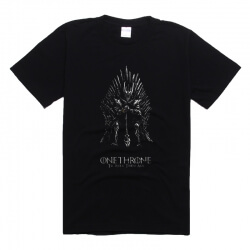Game Of Thrones Tee Iron Throne Black T Shirt for Men