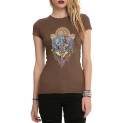 Ganesha Tattoo Rock T-Shirt for Women