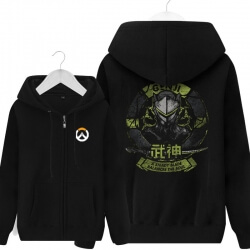 Gengi Hoodie Blizzard Overwatch Black Zipper Sweater For Young