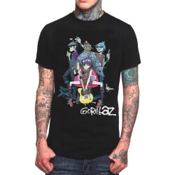 Gorillaz Electronic Rock Band Tee Shirt
