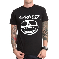 Gorillaz Electronic Rock T-Shirt Band Heavy Metal Tee