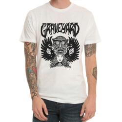 Graveyard Band Rock T-Shirt White Heavy Metal Tee