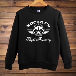 Guardians Rocket's Flight Academy Sweatshirt Black XXL Men Hoodie