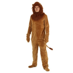 The Halloween Cosplay Costume Mens Funny Lion Stage Performance Cosplay Body Suits Stage Performance Brown