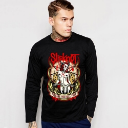 Heavy Black Metal Slipknot Long Sleeve Tee Shirt