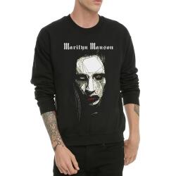 Heavy Metal Marilyn Manson Crew Neck Hoodie