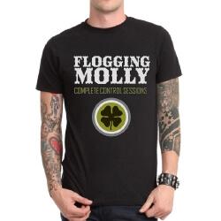 Heavy Metal Rock Flogging Molly Tshirt Black