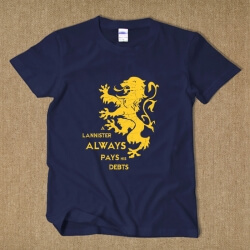 House Lannister Flag T-shirt Back XXL Tee