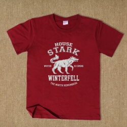 House Stark Wolf Black T-shirt for Men