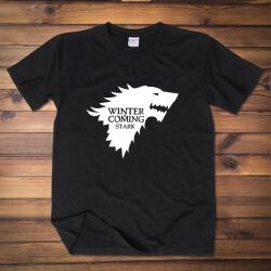 House Stark Wolf Flag Tshirt For Mens