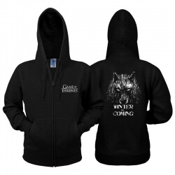 House Stark Wolf Zipper Hoodie Game Of Thrones Stark Sweater