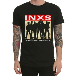 Inxs Band Rock Tee White Heavy Metal Shirt