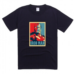 Ironman Movie Tee Cotton Summer T Shirt Loose Fit