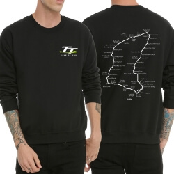 Isle of Man logo Hoodie Crew Neck Black Sweatshrit