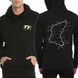 Isle of Man TT Logo Pullover Hoodie Black Men Sweatshirt