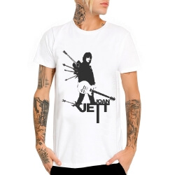 Joan Jett T-Shirt White Heavy Metal Tee Shirt