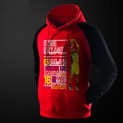 Kobe Bryant's Achievement Hoodie Red 3XL NBA Pollover Sweater
